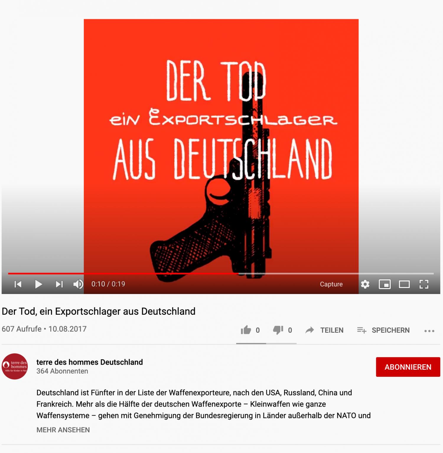 Abb.2, Kampagne zum Stopp von Waffenexporten von terres des hommes Deutschland